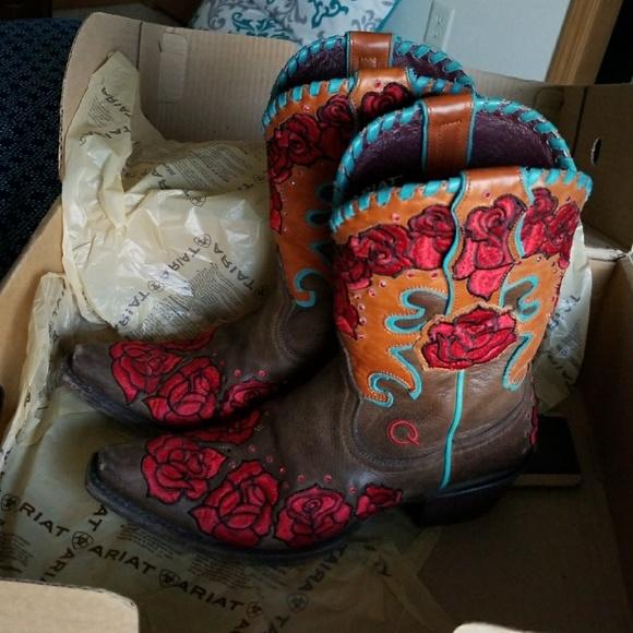 de66a2237 Ariat Shoes | Cowboygirl Boots Rodeo Rosita Collect | Poshmark